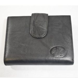 💥NEW💥 Buxton Top Grain Black Leather Wallet